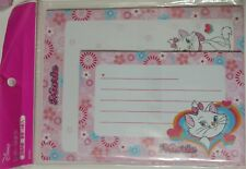 Lot 2-Pack Disney Marie Aristocats Cat Stationery Envelop Set Stationary Flowers