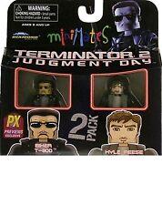 Minimates Terminator 2 Judgment Day Biker T-800 & Kyle Reese Action Figure 2Pk