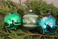 Christbaumschmuck Weihnachtskugeln Set 3 Stück Glas handbemalt Weihnachten