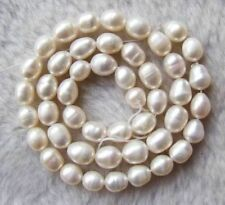 New 7-8mm White Freshwater Pearl Rice Beads String 15inchs