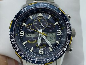 Citizen JY8078-52L Blue Angles Skyhawk Eco Drive Stainless Steel Watch #3