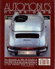 AUTOMOBILES CLASSIQUES n°22 OCTOBRE 1987 SALON FRANCFORT BMW V12 DELAHAYE