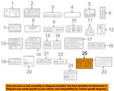 MERCEDES OEM 2013 SLK55 AMG Labels-Emission Label 1522210101
