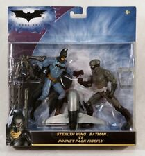 Stealth Wing Batman vs. Rocket Pack Firefly Action Figure Set ~FREE CONT US SHIP