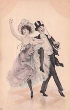 Postcard Art Risque Man Woman Fancy Clothes