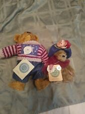 Boyds Bears Eddie Bauer With Sweater And Tag and Yvette dubeary.. nwt