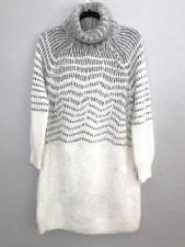 Anthropologie Eyelash Sweater Tunic Dress Medium Turtleneck Sleeping On Snow
