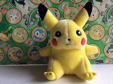 Pokemon plush Pikachu Hasbro 1998 vintage old school stuffed doll toy go figure