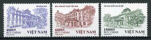 Vietnam Architecture Stamps 2019 MNH Buildings Trees 3v Set