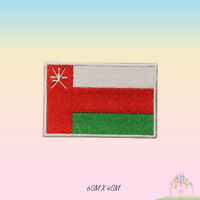 Oman National Flag Embroidered Iron On Patch Sew On Badge