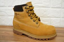 Caterpillar Bruiser Womens Size 4 Honey Tan Leather Ladies Walking Boots
