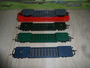 4 TRIANG MODEL RAILWAYS OO GAUGE R118 BOGIE WELL WAGONS