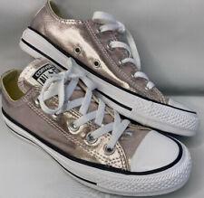 Converse All Star Chuck Taylor Rose Gold Metallic Low Top Sneakers Women 6 Men 4