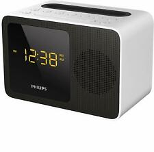 Philips AJT5300W Radiowecker mit Bluetooth (UKW, Dual Alarm, USB Ladestation)