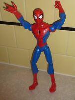 "Spider Man 12"" Spiderman TALKS Action Figure Marvel Comic Super Hero Hasbro (A9)"