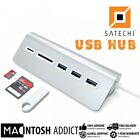 SATECHI Aluminum USB 3.0 Hub 3 Port + SD /Micro-SD Card Reader