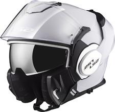 Ls2 Casque Moto Modular Ff399 Valiant Mono Gloss Blanc XL