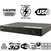 NEW LG BP55/550 2D/3D Wi-Fi All Zone Multi Region Free DVD Blu-Ray Disc Player