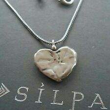 SILPADA - N1727 - Hammered Oxidized Sterling Silver Heart Pendant Necklace  CUTE