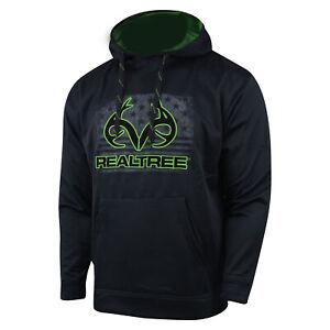 Realtree Performance Fleece Hoodie (L)- Nailhead/Green Flash