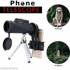 50X Zoom Telephoto Telescope Monocular Camera Lens+Cell Phone Clip+Tripod Stand