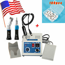 USA! Black Dental Lab MARATHON Handpiece 35K Rpm Electric Micromotor &Prophy Cup