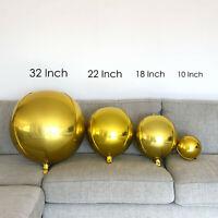 "Gold Orb Balloons Orbs Round Balloons 32"", 22"", 18"" & 10"""