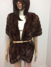 RUSSIAN SQUIRREL BROWN FUR  COLLAR STOLE SCARF CAP n18-36