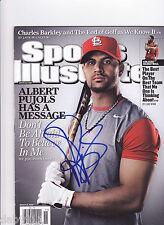 Albert Pujols Cardinals SIGNED Sports Illustrated magazine no label