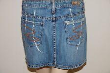 SEVEN 7 Premium Denim Lane Bryant Jeans Mini Skirt Splattered Acid Destroyed 29