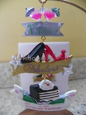 Hallmark 2012 Friends Forever Cocktails Shoes Cake Christmas Ornament