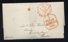 Somerset Bristol ARANCIONE Annulla 1844 BELLE wrapper pulito