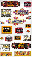 Mary Engelbreit-Scrapbook Mary'S Mottoes Bloom Queen Snap Out Sticker Sheet-New!