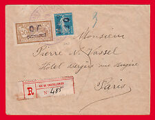 "GREECE FRANCE CASTELLORIZO 1920 COVER ""OF"" OVERPRINT VERY RARE. TWO CERTIFICATES"