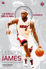 LIBRO BOOK N° 7 LEBRON JAMES LE STELLE DELLA NBA AI RAGGI X MIAMI HEAT