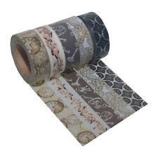 5 Rollen je 10m Washi Masking Tape Hochzeit Klebeband Reispapier 0,22 Eur/m 9238