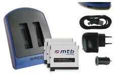 Chargeur double (USB) + 3x Batterie AHDBT-401 / AHDBT401 pour GoPro Hero 4