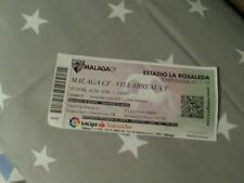 Sammler Used Ticket Malaga CF vs Villarreal CF La Liga 17/18