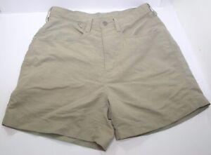 "The North Face Womens Size 4 Nylon Khaki Shorts Hiking Active Camping 4"" Inseam"