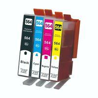 4PK 564XL Ink Cartridge for HP Photosmart 6510 6520 7510 7520 5520 5510
