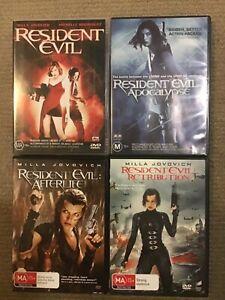 RESIDENT EVIL DVD BUNDLE
