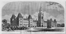 THE PROPOSED NEW PARLIAMENT BUILDINGS AT OTTAWA CITY CANADA GOTHIC ARCHITECTURE