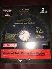 "Craftsman 2 Universal Twin Cutter Saw Blades 5"" 32 Tooth 932556"