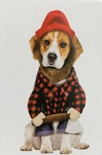 HALLOWEEN Dog Puppy Lumberjack 2 Piece Costume Size M