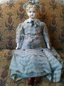 """Vintage 24"""" Reproduction of Antique Doll By Eleanor Holland"""