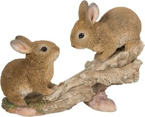Climbing Baby Rabbits Highly Detailed Garden Decoration