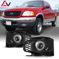For Ford F-150 99-04 Clear Lens Pair Bumper Fog Light Lamp Halo Projector DOT
