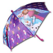 DISNEY Kinder Regenschirm - Eiskönigin Frozen - Anna, Olaf & Elsa - Schirm lila