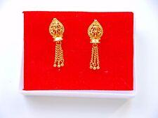 Kapa 22k Oro Plateado Aretes Indio Asiático De Moda Bisutería e3