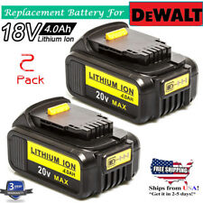 2X 20 Volt MAX LITHIUM ION BATTERY For Dewalt DCB200 DCB201 DCB204 Drill battery
